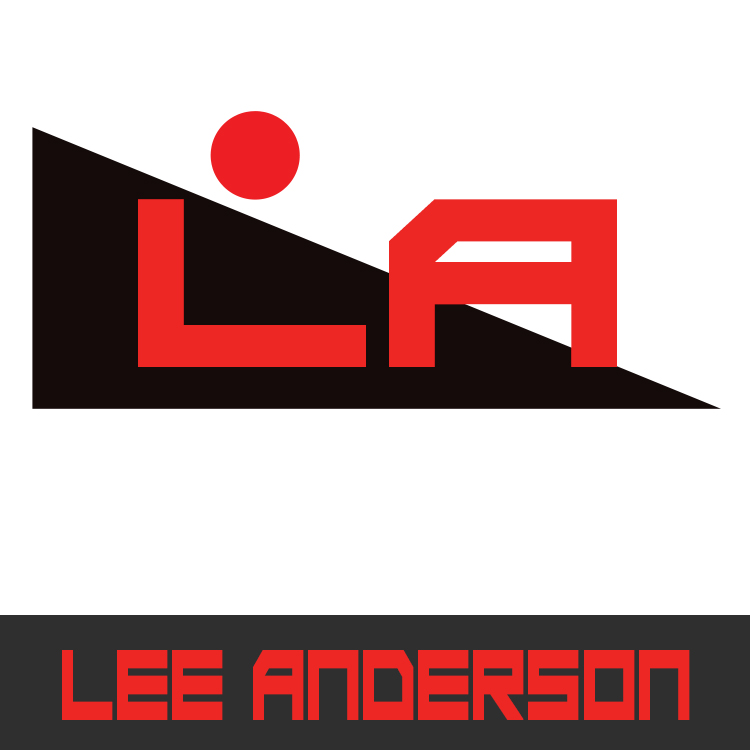 Author Lee Anderson logo designed by Candu Web Design