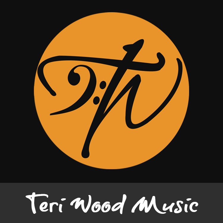 Teri Wood Music logo designed by Candu Web Design
