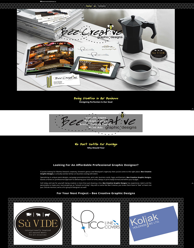 Bee Creative Graphics Designed by Candu Web Design - Victoria BC