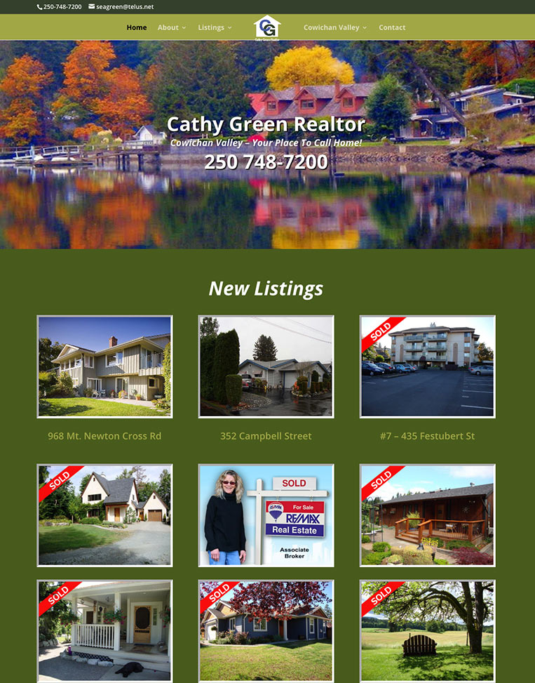 Cathy Green Real Estate Re/Max Designed by Candu Web Design - Duncan BC