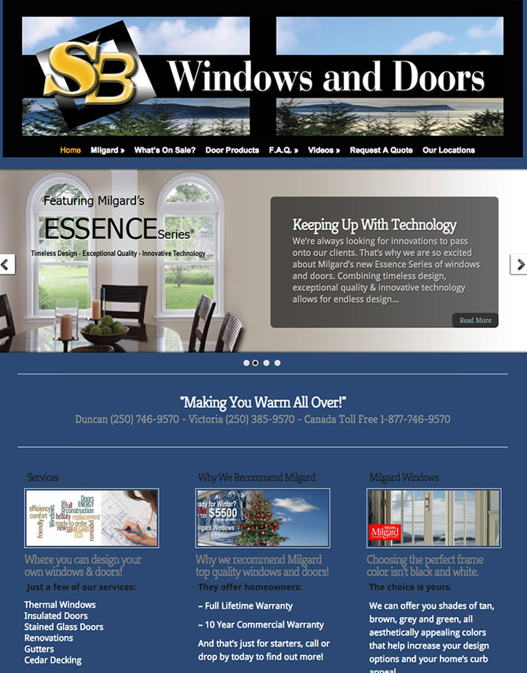 SB Windows and Doors  Designed by Candu Web Design