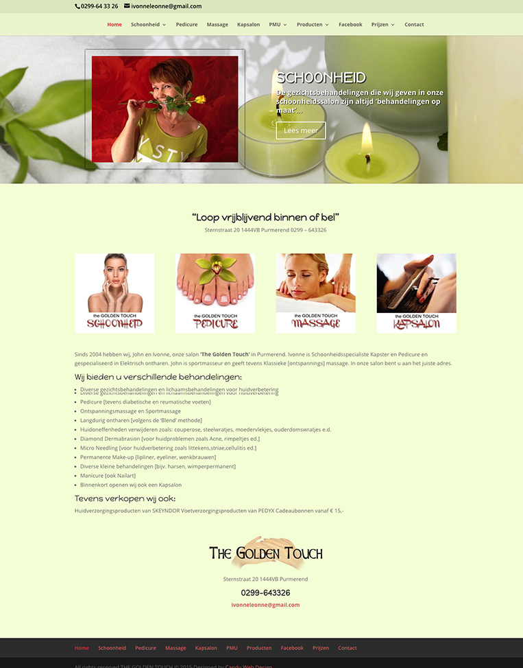 The Golden Touch (Holland) Designed by Candu Web Design