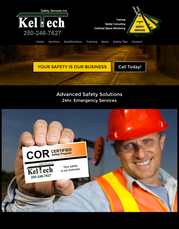 Kel Tech Safety Designed by Candu Web Design - Duncan BC