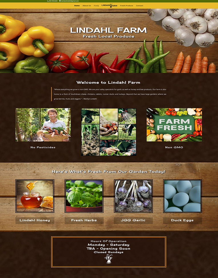 Lindahl Farm Designed by Candu Web Design - Duncan BC