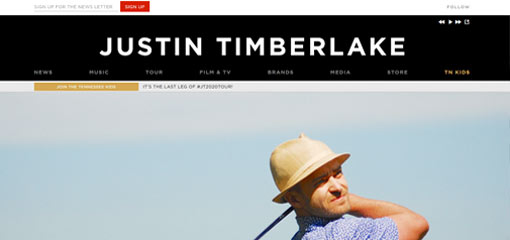 What Well-Known Websites Use WordPress? Justin Timberlake