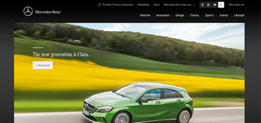 What Well-Known Websites Use WordPress? Mercedes