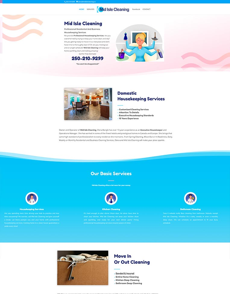 Mid Isle Cleaning Designed by Candu Web Design - Victoria BC