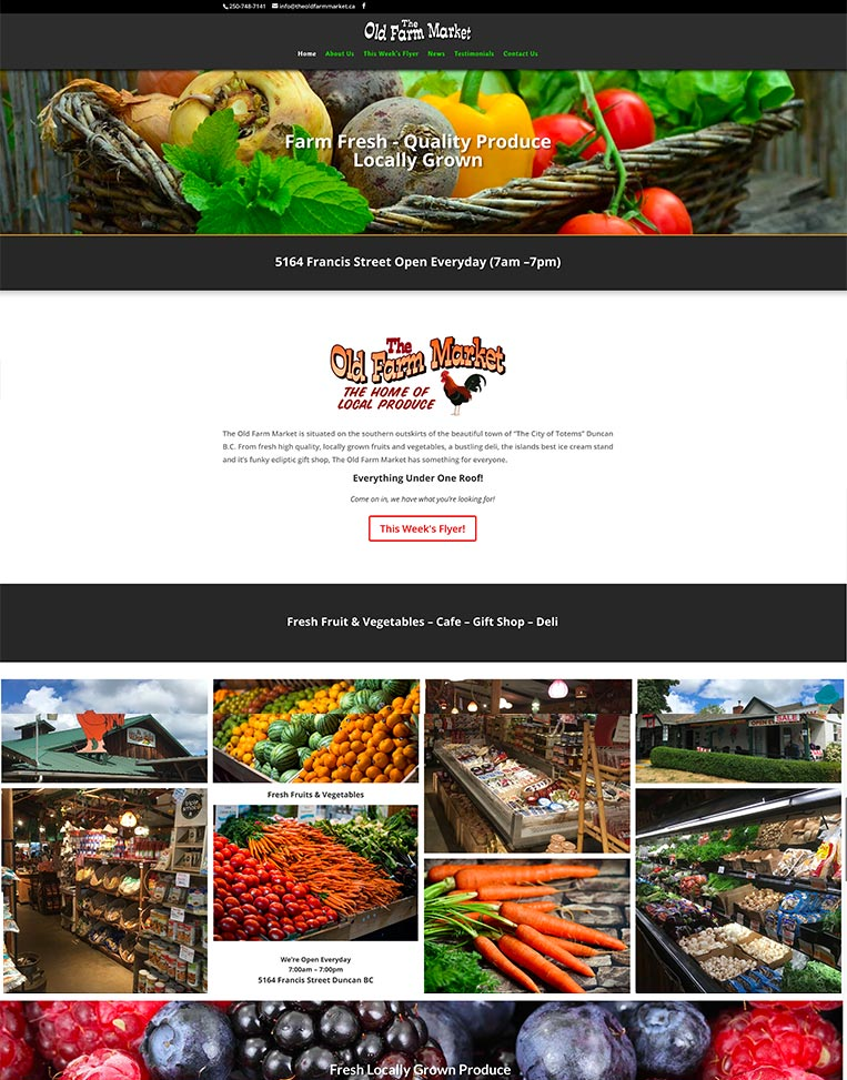 The Old Farm Market Designed by Candu Web Design