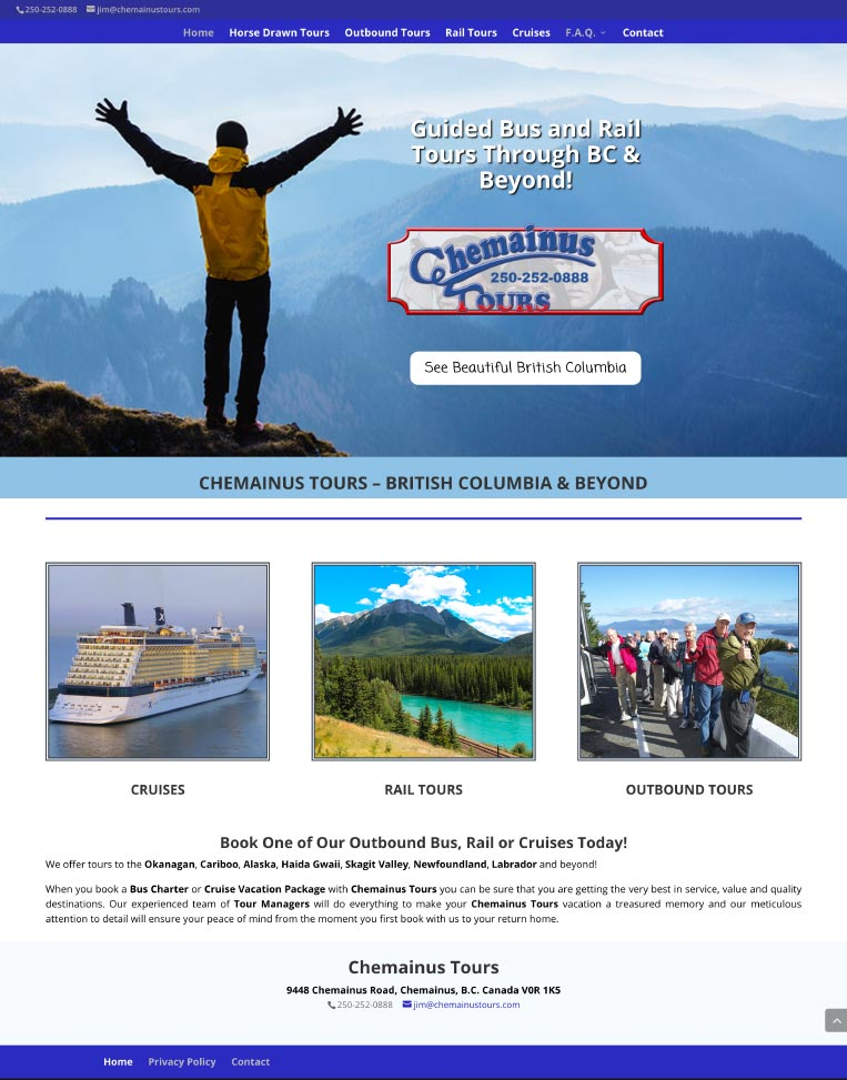 Chemainus Tours Designed by Candu Web Design - Chemainus BC