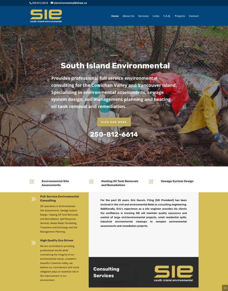 South Island Environmental Designed by Candu Web Design - Mill Bay BC