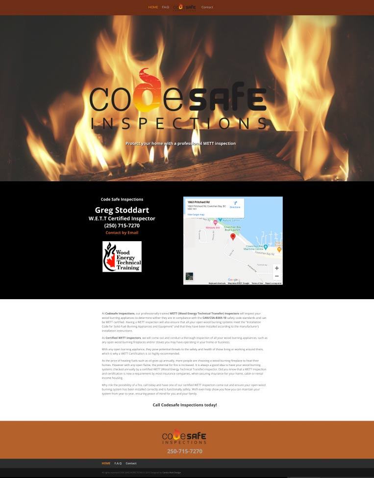 Code Safe Inspections Duncan BC W.E.T.T Certified Inspections